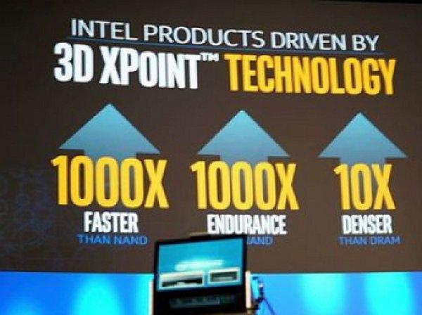 Intel и Micron представили новую технологию памяти, в 1000 раз быстрее флэша