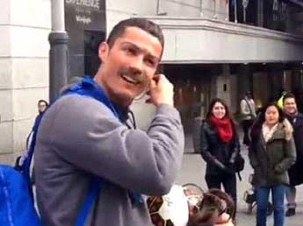 Роналду разыграл прохожих, переодевшись в бездомного