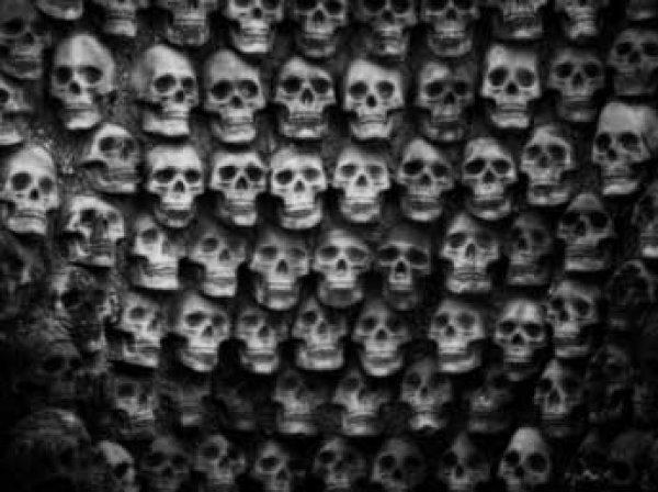 В центре Мехико найдена стена из человеческих черепов
