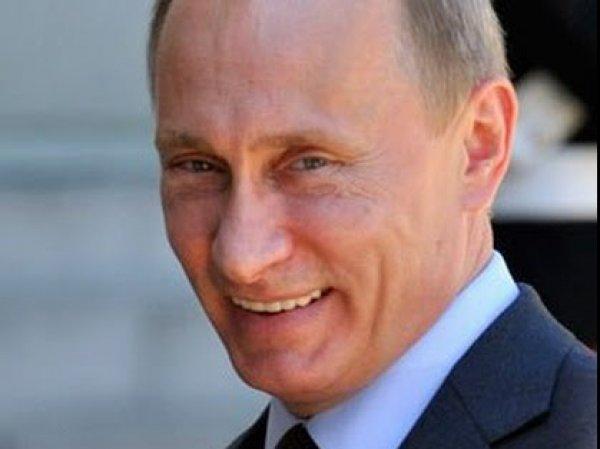 На сайте Львовской ОГА выложили фотографию смеющегося Путина