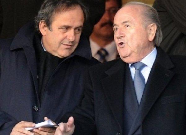 Президент УЕФА Платини получил 2 млн франков от главы ФИФА Блаттера