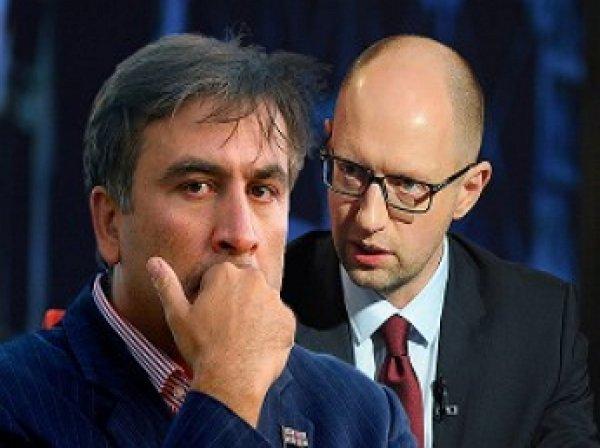 Арсений Яценюк и Михаил Саакашвили устроили перепалку