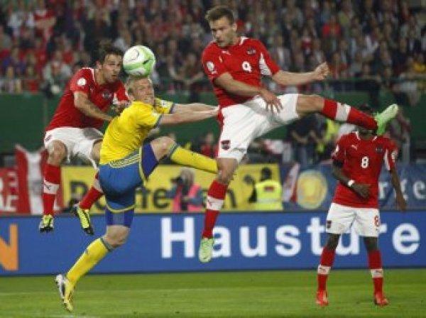 Швеция пропустила Австрию на ЧЕ-2016, проиграв дома со счетом 1:4 (ВИДЕО)