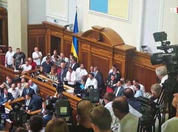 Депутаты украинской Рады в прямом эфире поломали друг другу ребра
