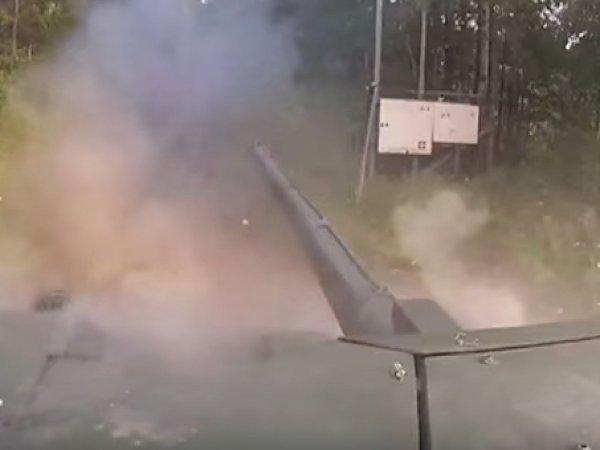 """В Сети появилось видео стрельбы из танка """"Армата"""""""