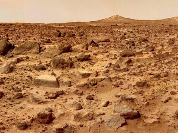 На поверхности Марса разглядели двух гуманоидов