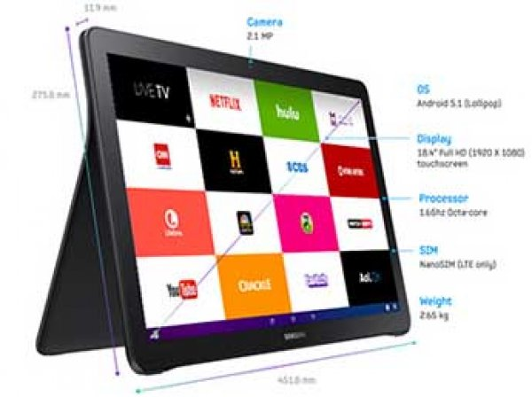 Компания Samsung показала гигантский 18,4-дюймовый планшет на Android