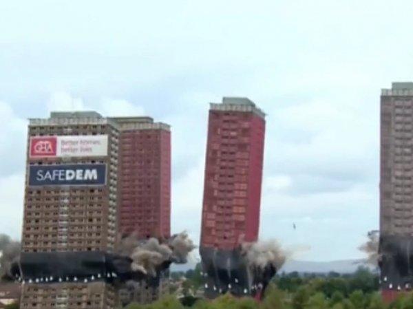В Шотландии взорвали сразу шесть многоэтажек