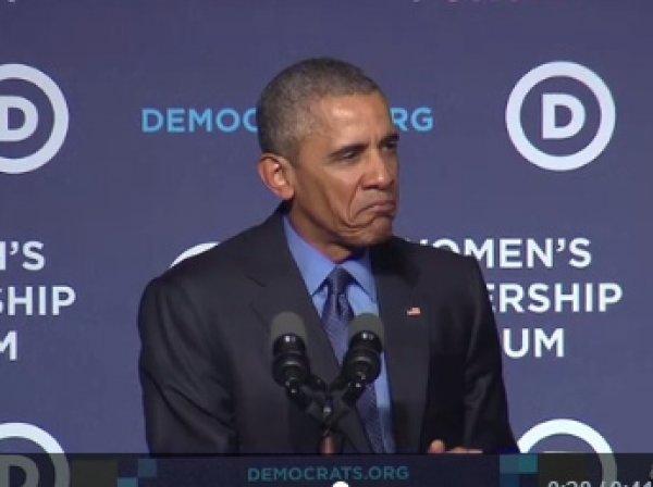 Обама изобразил Сердитого Котика женщинам в Вашингтоне