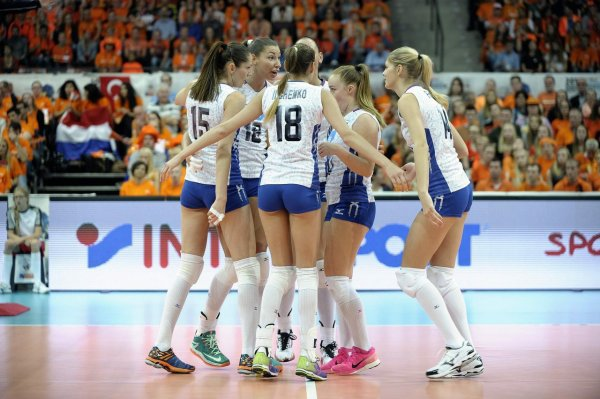 Российские волейболистки выиграли чемпионат Европы