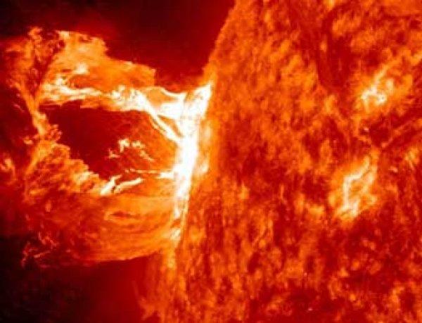 НАСА засняло мощнейший взрыв на Солнце