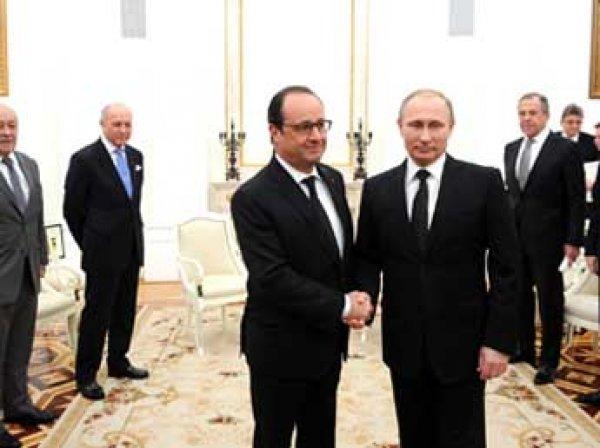 Встреча Путина и Олланда 26 ноября 2015, итоги: широкой антитеррористической коалиции не будет