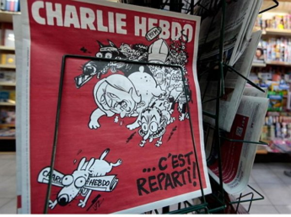 Charlie Hebdo опубликовал карикатуру на жертв теракта в Париже (ФОТО)