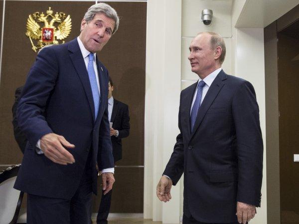 ИноСМИ сообщили детали встречи Путина и Керри по сирийскому вопросу