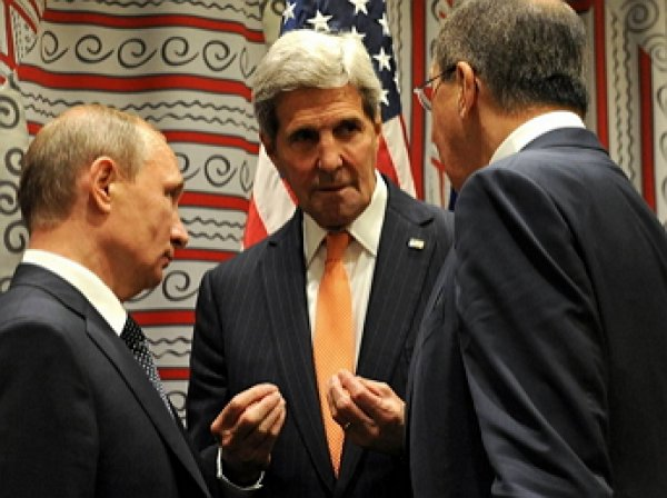 В Кремле завершилась встреча Путина, Лаврова и Керри