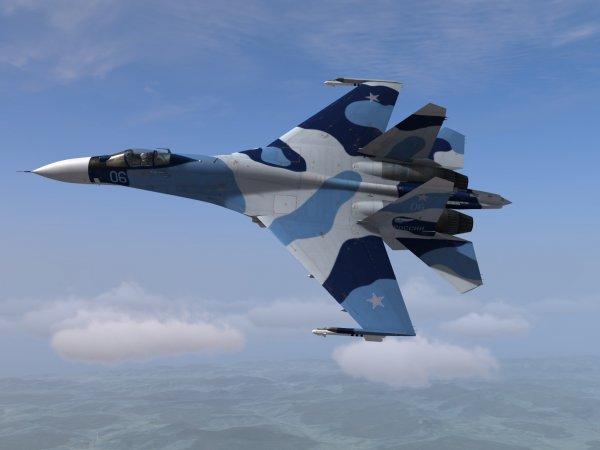 Российский СУ-27 перехватил самолет-разведчик ВВС США