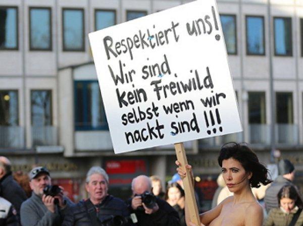 Швейцарская художница разделась в протест против насилия над женщинами