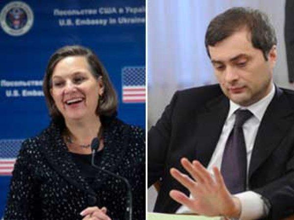 СМИ: Сурков и Нуланд проведут переговоры по Донбассу