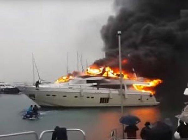 В Турции сгорела яхта бизнесмена из России за ,7 млн