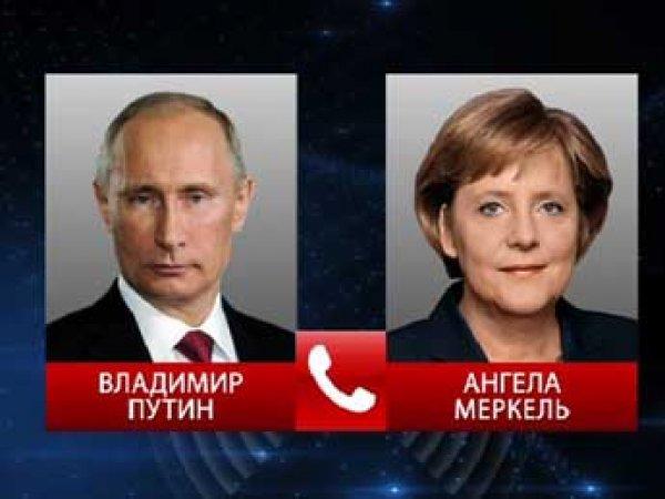 Меркель обратилась к Путину с призывом принять закон о выборах на Донбассе