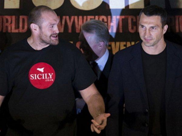 Кличко обматерил Фьюри на пресс-конференции