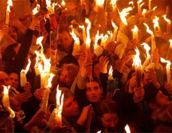 Благодатный огонь в Иерусалиме 2016 сошел на радость православных (ВИДЕО)