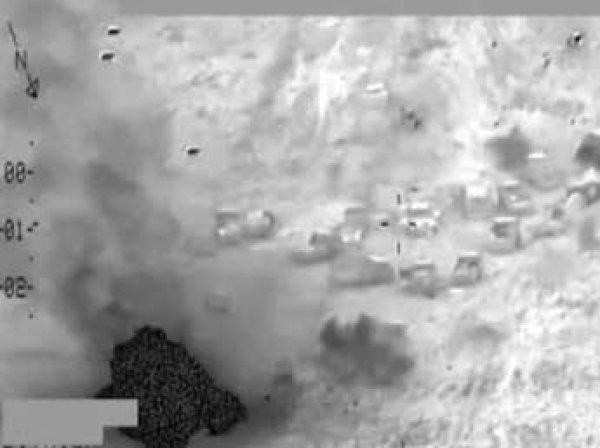 Ирак показал ВИДЕО уничтожения колонны ИГИЛ российскими вертолетами