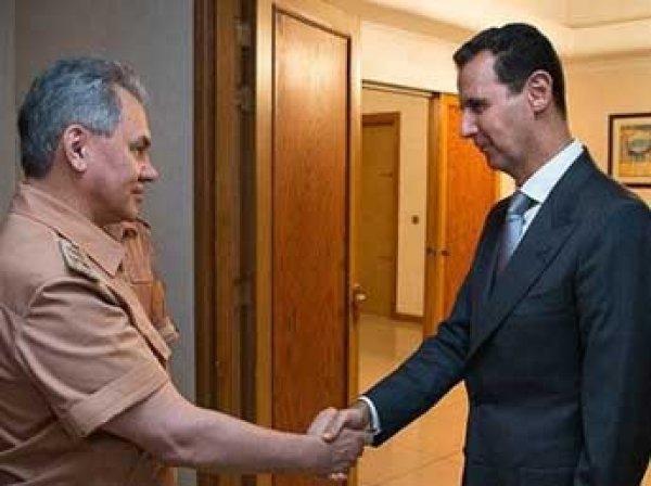 Шойгу по поручению Путина встретился в Сирии с Асадом