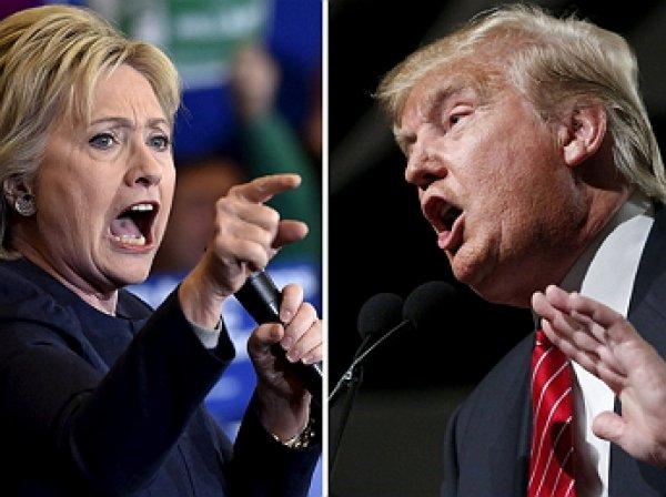 """СМИ: Трамп обогнал по популярности """"падучую"""" Клинтон"""