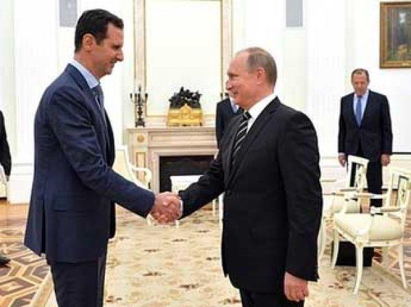 СМИ сообщили о тайном визите Асада в Москву