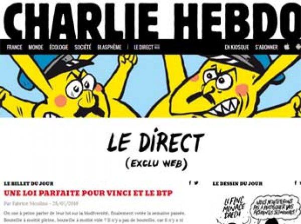 Новый Charlie Hebdo вышел с карикатурой об участии россиян в ОИ-2016 (ФОТО)