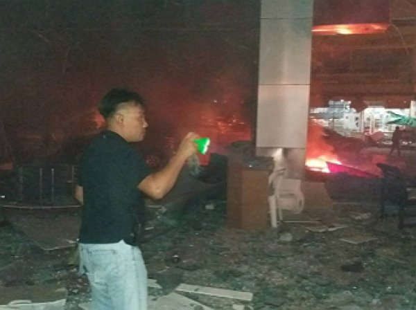 В Таиланде рядом с отелем прогремел взрыв: опубликовано первое видео с места взрыва