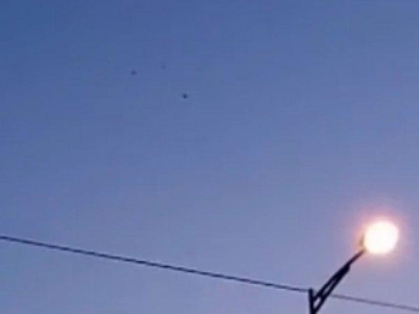 В Тюмени сняли на ВИДЕО три НЛО и военный истребитель (ВИДЕО)
