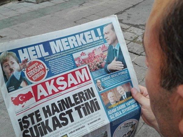 Турецкая газета изобразила Меркель в образе Гитлера (ФОТО)