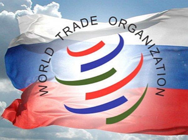ВТО впервые в истории приняла решение против России