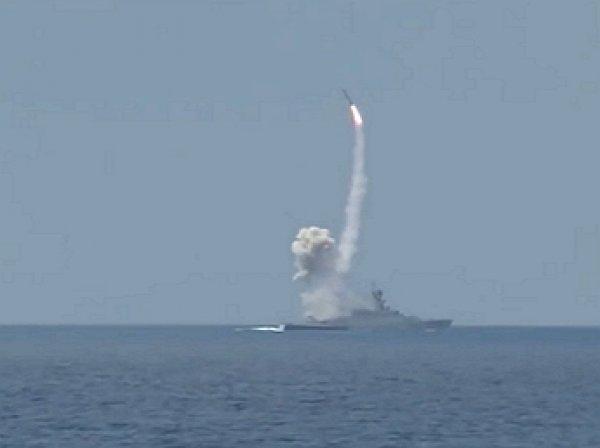 Минобороны опубликовало видео удара крылатых ракет «Калибр» кораблей ЧФ по боевикам в Сирии