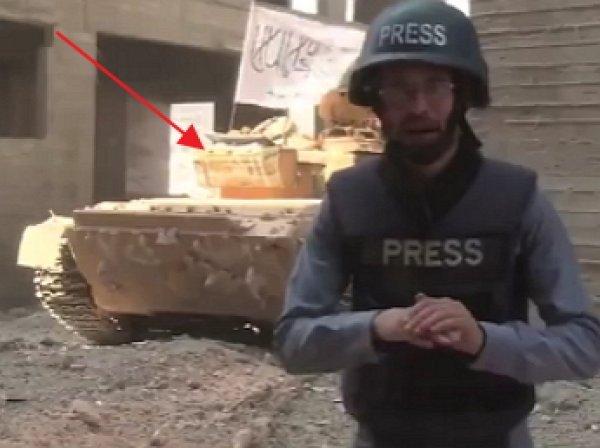 """В Алеппо за спиной репортера """"Аль-Джазиры"""" в прямом эфире взорвался танк"""
