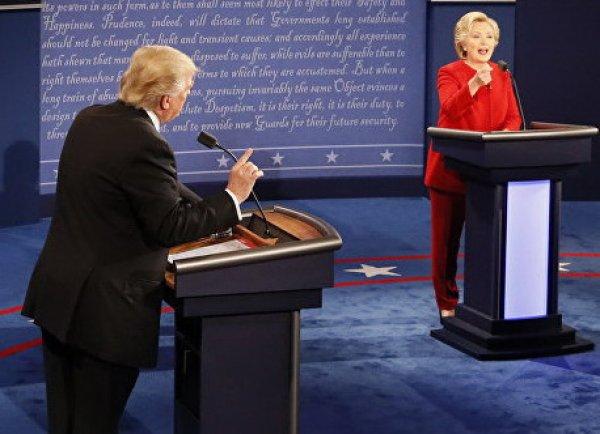 Дебаты Клинтон и Трампа 26 сентября окончились победой экс-госсекретаря (ВИДЕО)