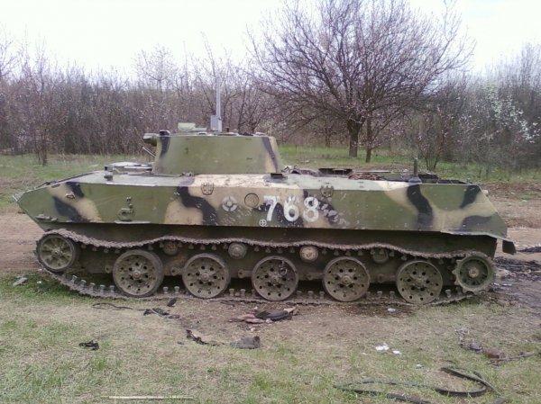 На Украине во время десантирования разбилась БМД-2 (ВИДЕО)