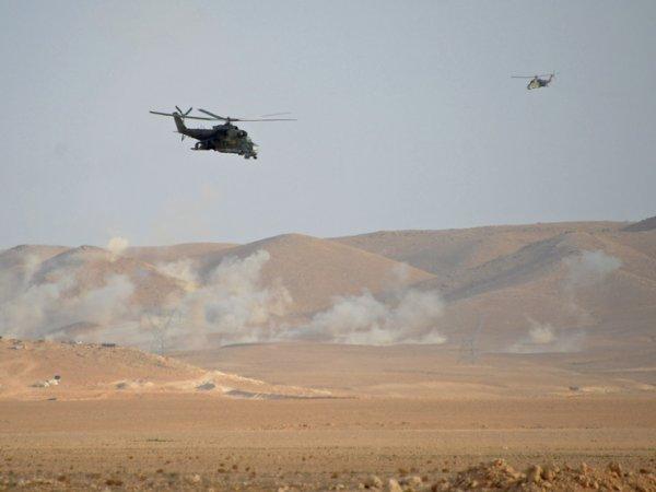 Опубликовано ВИДЕО обстрела российского военного вертолета в Сирии