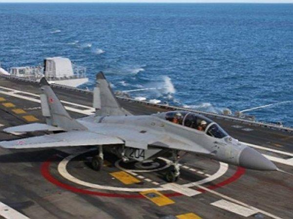 """СМИ: МиГ-29 с """"Адмирала Кузнецова"""" рухнул в Средиземное море"""