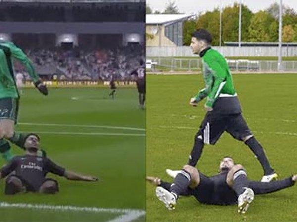 Футболисты показали ВИДЕО на Youtube с пародией на самые забавные баги FIFA-17