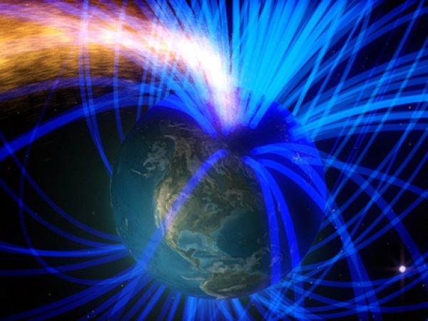 Солнце раскололо защитное поле Земли