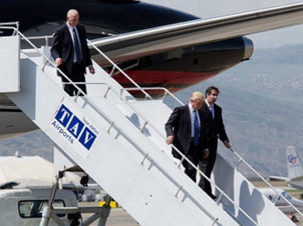 Трамп прилетел в Вашингтон для встречи с Обамой