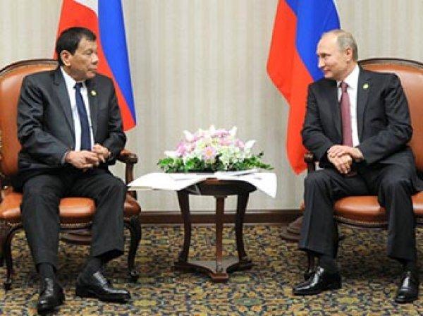 Обругавший Обаму президент Филиппин восхитился политикой Путина