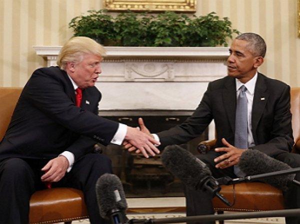 Обнародовано видео первой встречи Обамы и Трампа в Овальном кабинете (ВИДЕО)