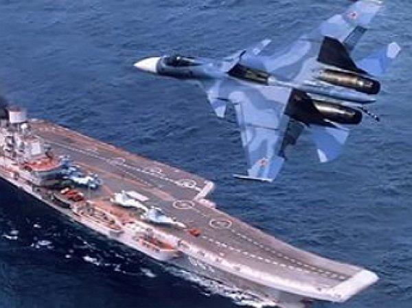 """YouTube """"взорвало"""" ВИДЕО из кабины Су-33, взлетающего с """"Адмирала Кузнецова"""""""