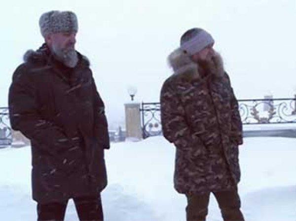 Кадыров вспомнил детство и извалял коллег в снегу (ВИДЕО)