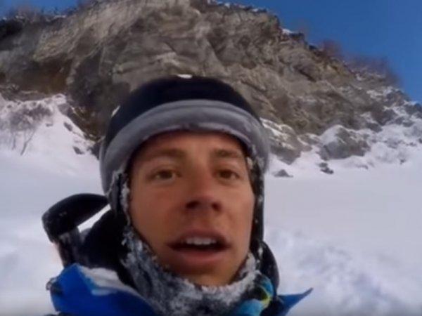 YouTube ВИДЕО: горнолыжник чудом выжил, рухнув с 40-метровой скалы (ВИДЕО)