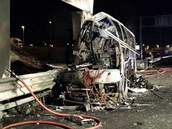 В Италии в ДТП сгорел автобус с детьми: 16 погибших (ФОТО)